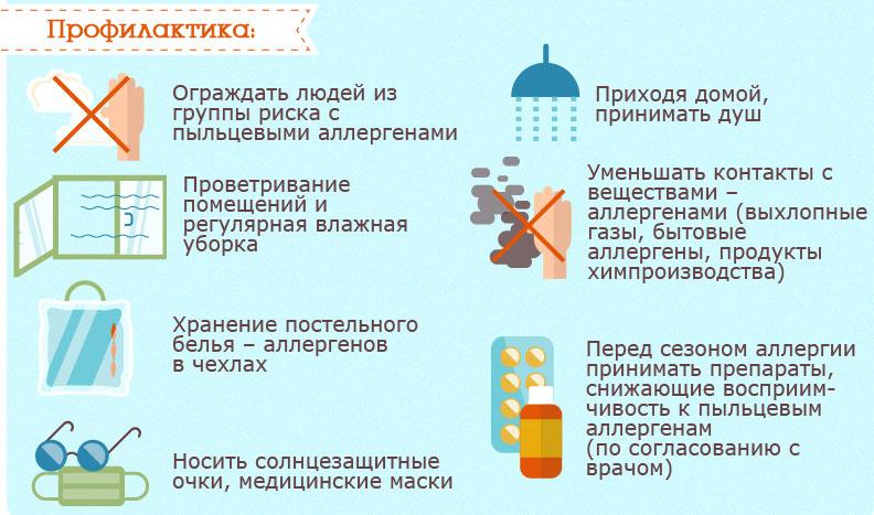 Профилактика поллиноза