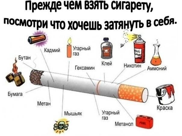 Вред от курения сигарет на организм