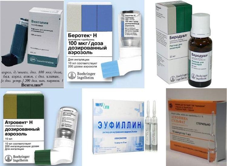 Комбинированные препараты при бронхиальной астме перечень